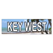 KW (Key West) Bumper Bumper Sticker