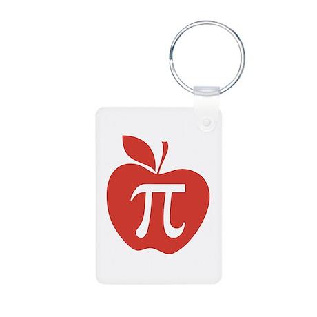 Red Apple Pi Math Humor Aluminum Photo Keychain