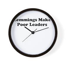 Lemmings Make Poor Leaders Wall Clock