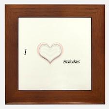 I heart Salukis Framed Tile
