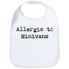 Allergic to Minivans Bib