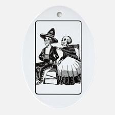 Calavera Couple Oval Ornament
