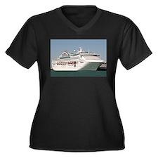 Dawn Princess Cruise Ship Women's Plus Size V-Neck