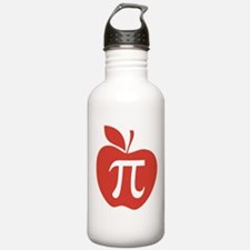 Red Apple Pi Math Humor Water Bottle