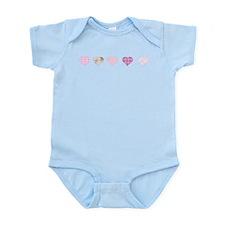 Pink Hearts Infant Bodysuit