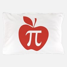 Red Apple Pi Math Humor Pillow Case