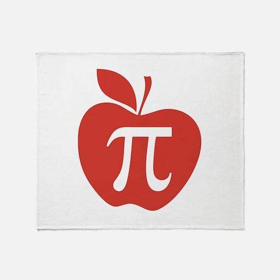 Red Apple Pi Math Humor Throw Blanket