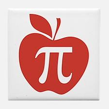 Red Apple Pi Math Humor Tile Coaster