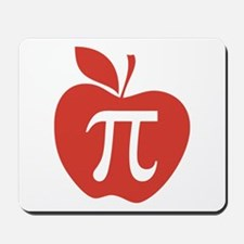 Red Apple Pi Math Humor Mousepad