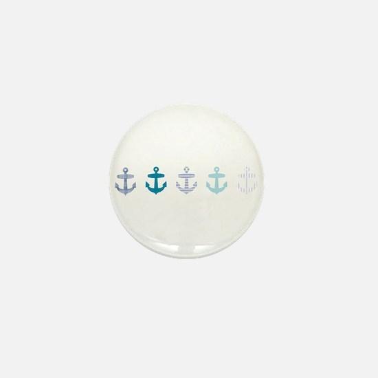 Blue anchors Mini Button