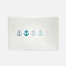 Blue anchors Rectangle Magnet (100 pack)