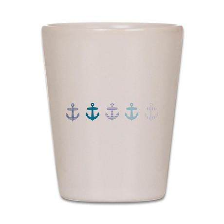 Blue anchors Shot Glass