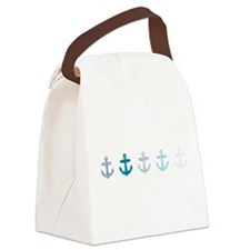 Blue anchors Canvas Lunch Bag