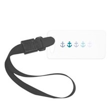 Blue anchors Luggage Tag