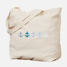 Blue anchors Tote Bag