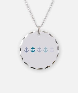 Blue anchors Necklace
