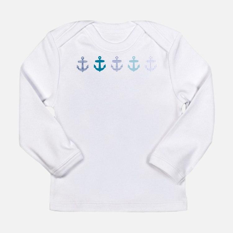 Blue anchors Long Sleeve Infant T-Shirt