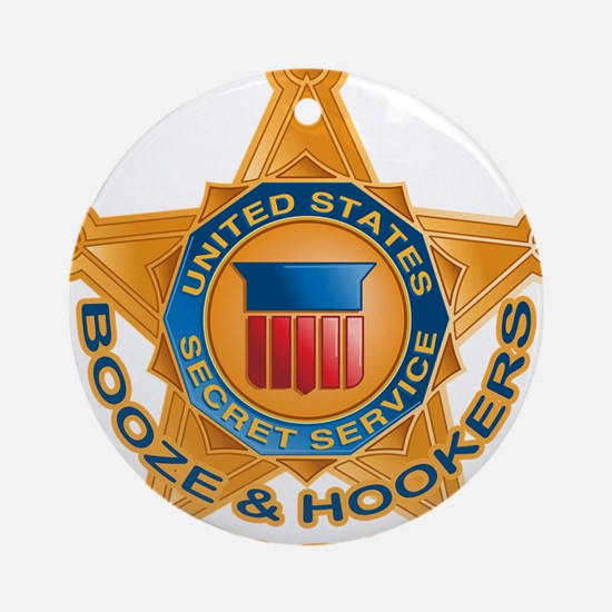 Booze Hookers Ornament (Round)