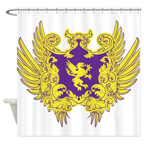 Crest And Wings Shower Curtain By Thebigshopofgreatstuff