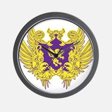 Crest and Wings Wall Clock