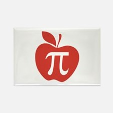 Red Apple Pi Math Humor Rectangle Magnet