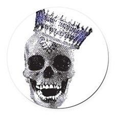 Skull with Crown Round Car Magnet