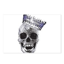 Skull with Crown Postcards (Package of 8)