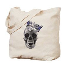 Skull with Crown Tote Bag