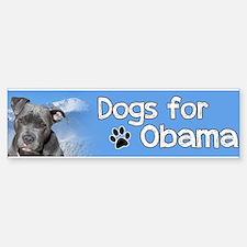 Dogs for Obama Sticker (Bumper)