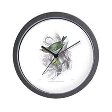 Gold Crest Bird Wall Clock
