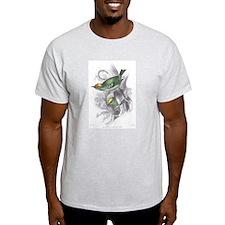 Gold Crest Bird (Front) Ash Grey T-Shirt
