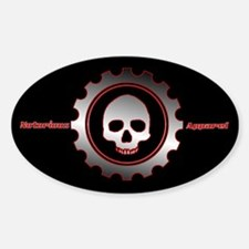gear skull Oval Decal