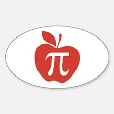 Red Apple Pi Math Humor Decal