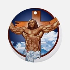 Strong Jesus Ornament (Round)
