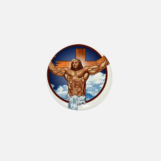 Strong Jesus Mini Button