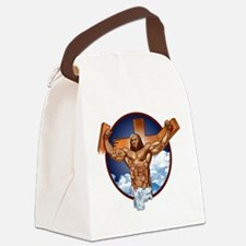 Strong Jesus Canvas Lunch Bag