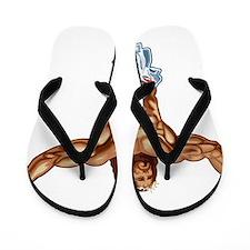 Muscle Jesus Flip Flops