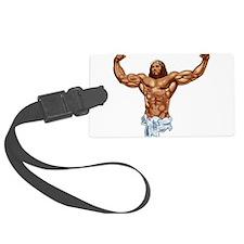 Muscle Jesus Luggage Tag