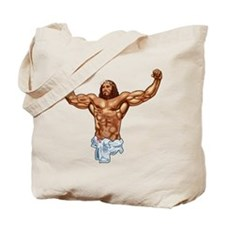Muscle Jesus Tote Bag