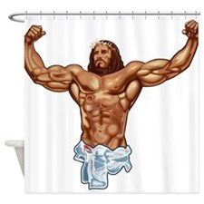 Muscle Jesus Shower Curtain