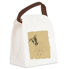 Jack Russell Vintage Style Canvas Lunch Bag