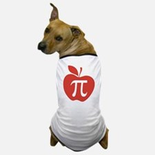 Red Apple Pi Math Humor Dog T-Shirt