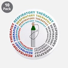 """Respiratory Therapy 3.5"""" Button (10 pack)"""