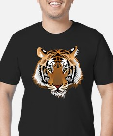 Tiger Men's Fitted T-Shirt (dark)