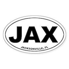JAX (Jacksonville, FL) Oval Decal