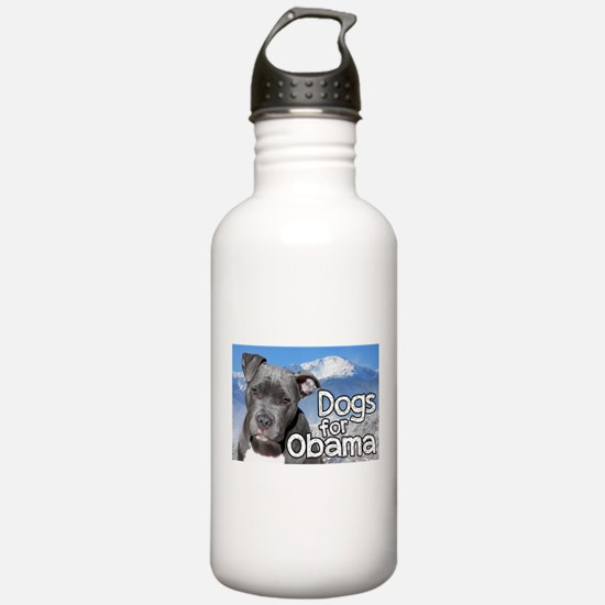 Dogs for Obama Water Bottle
