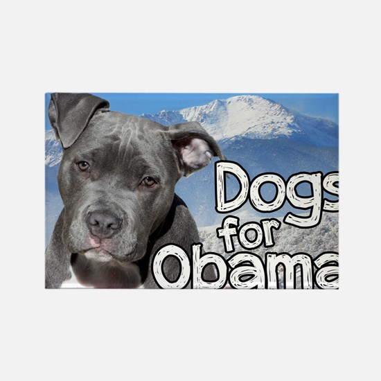 Dogs for Obama Rectangle Magnet (10 pack)