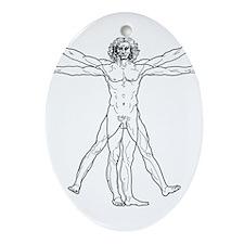 Vitruvian Man Ornament (Oval)