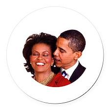 Obamas Round Car Magnet