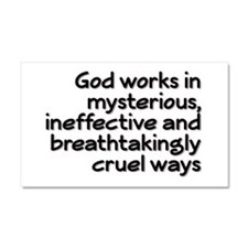 God Works In Mysterious Ways Car Magnet 20 x 12